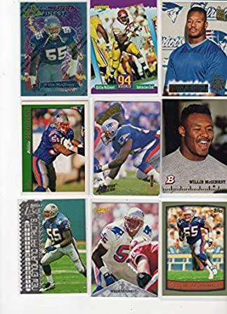 save off f851a a00c0 Amazon.com: Willie McGinest Collectors Football Card For w ...