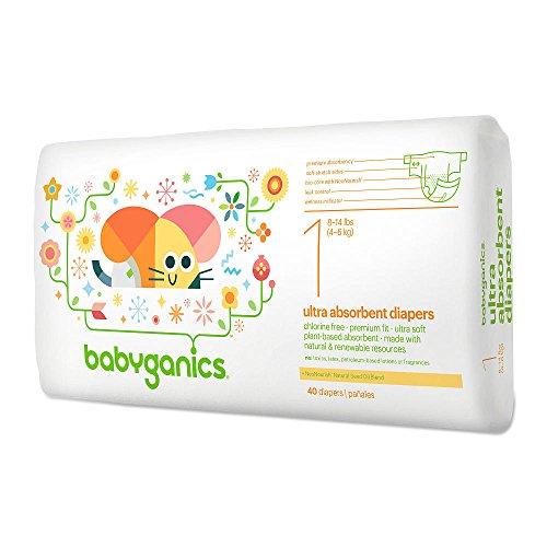 Babyganics Ultra Absorbent Diapers Jumbo Pack - 40 Count -