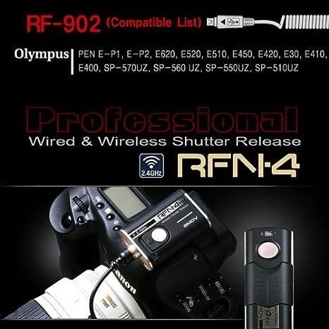 rfn-4 (rf-902) Wireless Cámaras DSLR de & Cable disparador para ...