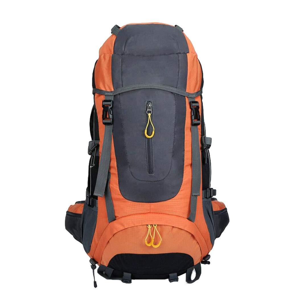 JSHFD 登山用バッグ ハイキングバックパック アウトドアスポーツ メンズ バックパック 75L  オレンジ B07GFMFQP7