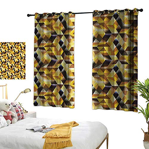 G Idle Sky Fashion Curtain Abstract Breathability Graphic Cubes Blocks 52