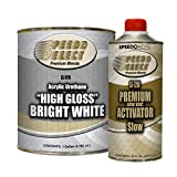 Speedokote High Gloss Bright White 2K Acrylic Urethane, 4:1 Gallon Kit, SMR-9710/1290