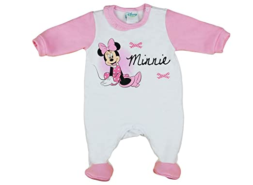 65c555e46e Mädchen Baby-Strampler Schlafoverall Langarm mit Fuß WARM dick gefüttert  Minnie Mouse GRÖSSE 56 62 68 74 rosa Weiss Baby-Schlafanzug Neugeborene 0 3  6 9 ...