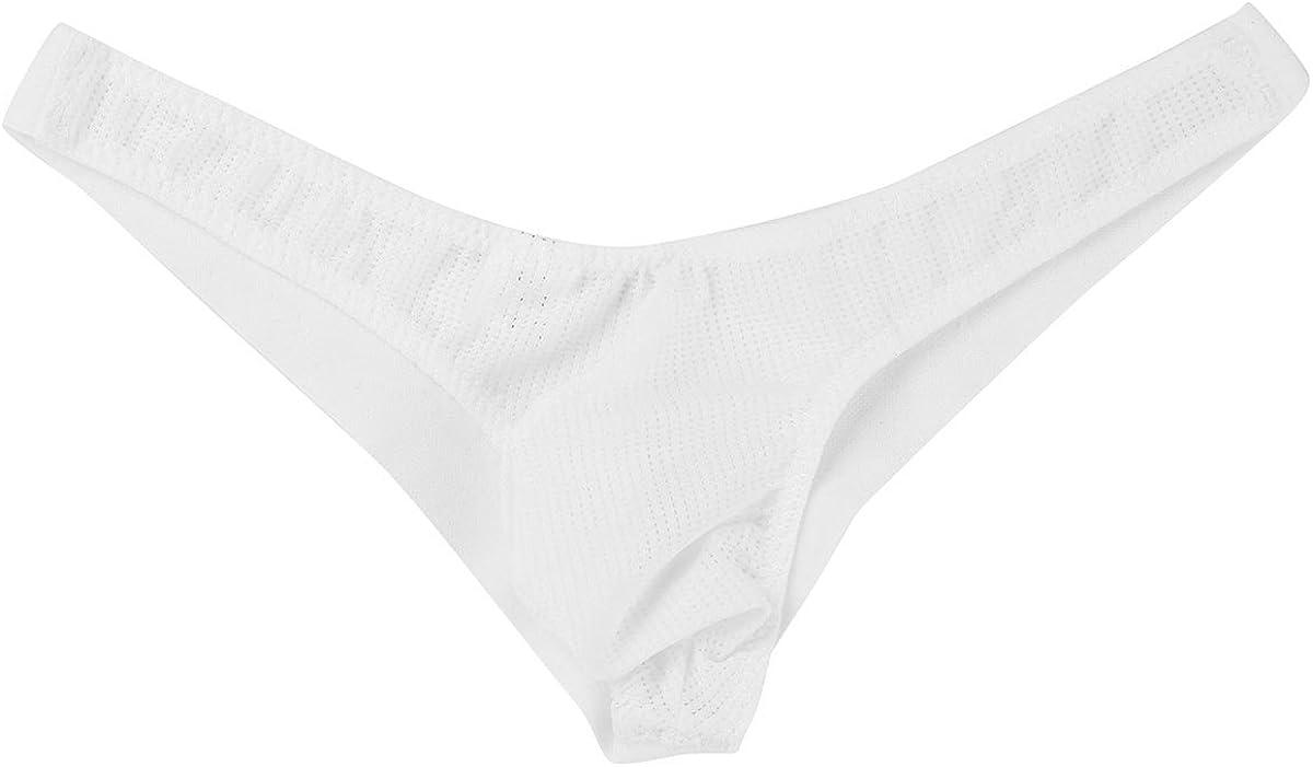 TiaoBug Herren Strings Tanga Netz Unterw/äsche Transparent Bikini Slips Unterhose Brief Shorts Unterw/äsche
