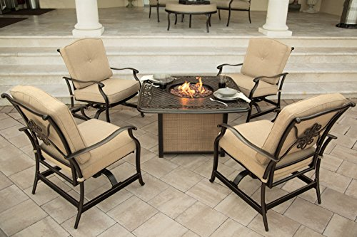 Hanover Traditions 5-Piece Outdoor Lounge Set Natural Oat TRADITIONS5PCFP