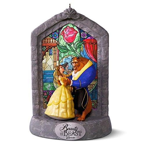 "Hallmark Keepsake Disney ""Beauty and the Beast 25th Anniversary"" Holiday Ornament"