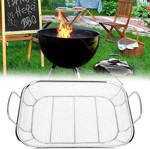Denash Grillkorb, Edelstahl BBQ Grillkorb mit großer Kapazität für Outdoor Camping Picknick