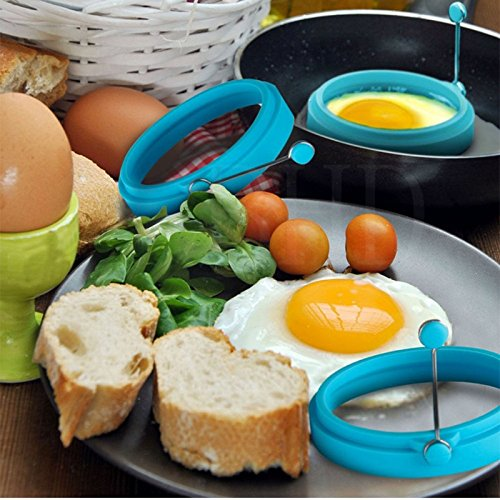 Amazon.com: Windspeed Cooking Egg Ring Pancake Mold, Nonstick Silicone Round Egg Rings Mold With Handles for Omelets, Burgers, Pancakes, Fried Eggs & More ...