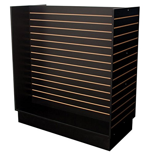 KC Store Fixtures 01516 Slatwall H-Unit, 48'' x 24'' x 54'' High, Black by KCF (Image #1)