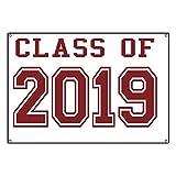CafePress Class Of 2019 (Red) - Vinyl Banner, 44''x30'' Hanging Sign, Indoor/Outdoor