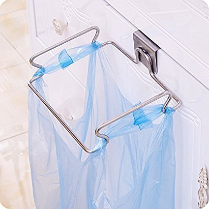 Fangfang Stainless Steel Trash Bag Holder for Kitchen Cabinet Storage Organizer COMIN18JU075650