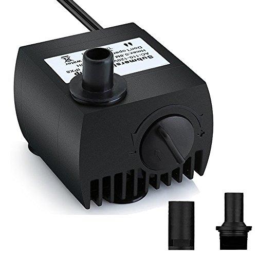 Maxesla Mini Bomba de Agua Ultra Silencioso 300L/H Bomba Sumergible 3W Bomba de Circulacion para Pecera Acuario Jardin, Estanque, Fuente