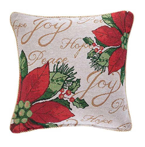 Miles Kimball Poinsettia Pillow Cover