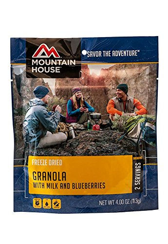 Cheap Mountain House Granola with Milk and Blueberries