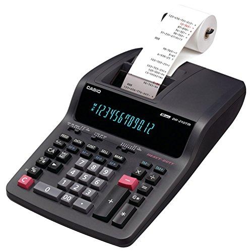 Casio Dr-210Tm Two-Color Desktop Calculator, Black/Red Print