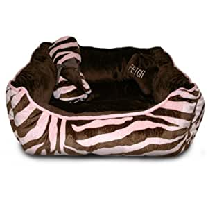 Amazon.com : Thro Ltd Zebra 3 Piece Dog Bed, Blanket, and