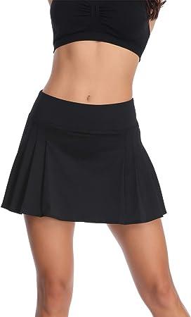 Meja Falda de Tenis Plisada para Mujer, de Secado rápido, con ...