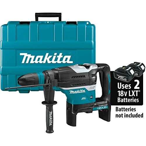 "Makita XRH07ZKU 18V x2 LXT Lithium-Ion (36V) Brushless Cordless 1-9/16"" Advanced AVT Rotary Hammer, Accepts Sds-Max Bits, Aws, Tool Only"