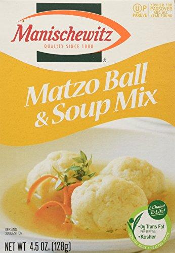MANISCHEWITZ Matzo Ball & Soup Mix, 4.5-Ounce Boxes (Pack of 8) by Manischewitz