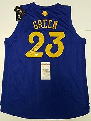 e40158f95d8 Draymond Green Signed Jersey - Swingman Xmas Blue XL WITNESSED - JSA  Certified - Autographed NBA Jerseys