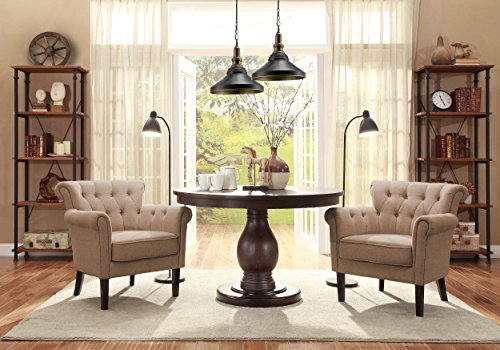 Homelegance 1193f1s Flared Arm Accent Chair Khaki Brown