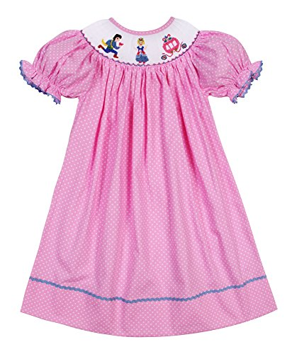 Cinderella Baby Dresses - Babeeni Baby Girls Smocked Bishop Dress Cinderella and Prince (18M)