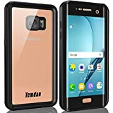 Temdan Galaxy S7 Edge Waterproof Case with Floating Strap IP68 Waterproof Shockproof Protective Clear Case for Galaxy S7 Edge