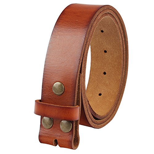 leather belt no buckle - 1