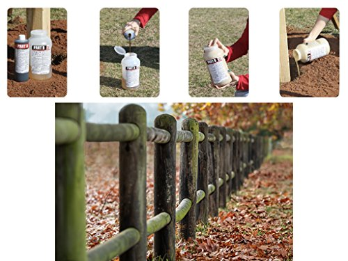 Secure Set - 20 Post Kit. Fast, Secure & Safe Concrete Alternative for Easy Fence Post Installation. Industrial Strength - Size: 4 Gallon by Secure Set (Image #2)