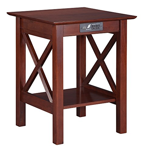 Atlantic Furniture Lexi Printer Stand with Charging Station,