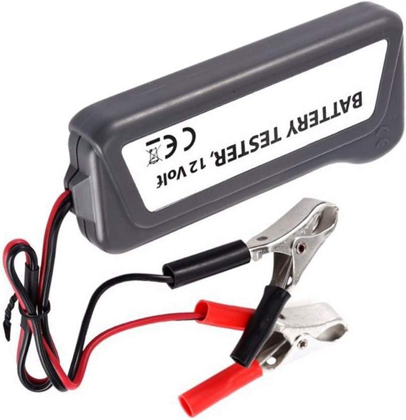 ZYElroy Car Truck 12 Volt Battery Tester LED Indicator Light Display Motorbike Motorcycle Battery Checker