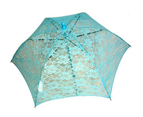 [301 Light Blue) Lace Parasol] (Southern Belle Costumes Adult)