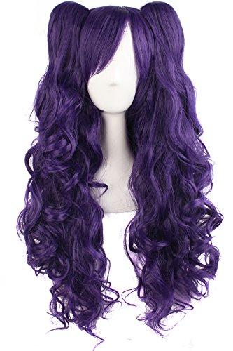 MapofBeauty Lolita Ponytails Cosplay Purple product image