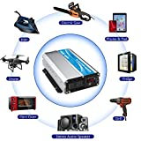 GIANDEL 2000W Power Inverter 12V DC to 110V 120V AC with Remote Control and LED Display Dual AC Outlets & USB Port for RV Truck Boat