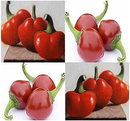 Portal Cool (50) Semillas Red Cherry Hot pimienta - Fruit sin escalas muy caliente - Combinada de envío y manipulación