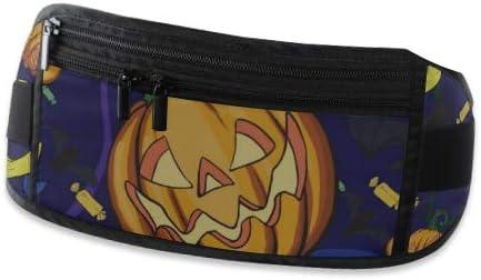 Travel Waist Pack,travel Pocket With Adjustable Belt Halloween Pumpkin Running Lumbar Pack For Travel Outdoor Sports Walking