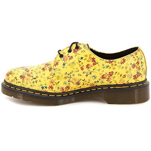 Dr Martens 1461 Little Flowers, Damen Schnürhalbschuhe, Sun Yellow 40