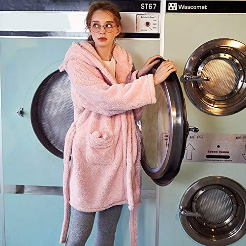 Arco Rosa Invierno Conjunto Olliuge Coral Dormir Animados Dos Dibujos Ropa Pijamas Grueso De Señoras Franela Noche Vellón Calidad Piezas Camisones zHR5xRwZq