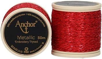 FB 318/Rosso Metallizzato Anchor Metallic filo da ricamo 50/m