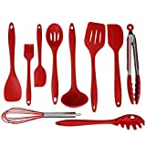 10Pcs Cooking Utensils Set ,VIASA Silicone Kitchen Premium Heat Resistant Baking Tool