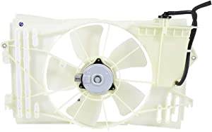ECCPP AC A/C Condenser Radiator Cooling Fan Replacement fit for 2003-2008 Pontiac Vibe Toyota Corolla/Matrix 1.8L