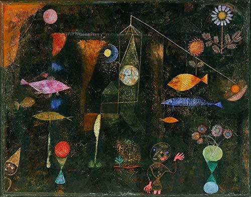 Berkin Arts Paul Klee Giclee Art Paper Print Art Works Paintings Poster Reproduction(Fish Magic)
