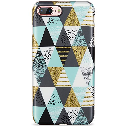 iPhone 7 Plus Case,iPhone 8 Plus Case, rhombus Multi-colored for women girls Cute Slim Fit Glossy TPU Clear Bumper Soft Rubber Silicone Thin Protective Phone Case Cover for iPhone 7 Plus/iPhone 8 Plus