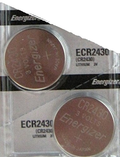 (2 pack Energizer CR2430 Lithium Coin Button Cell battery)