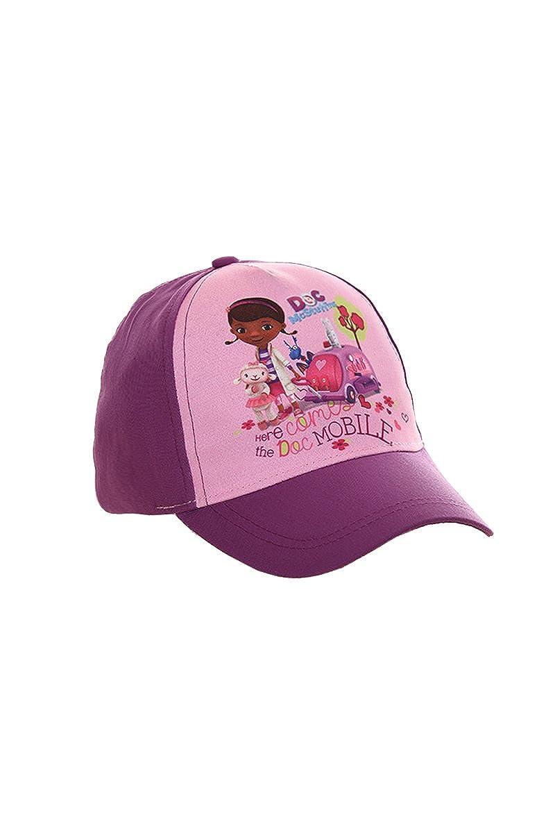 Disney Doc McStuffins Gorra, Gorra de Béisbol, Gorra Infantil, Niñas, 100% Algodón con Velcro Ajustable OE4296