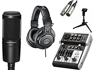 audio technica at2020 microphone with usb mixer accessories all in one solution. Black Bedroom Furniture Sets. Home Design Ideas