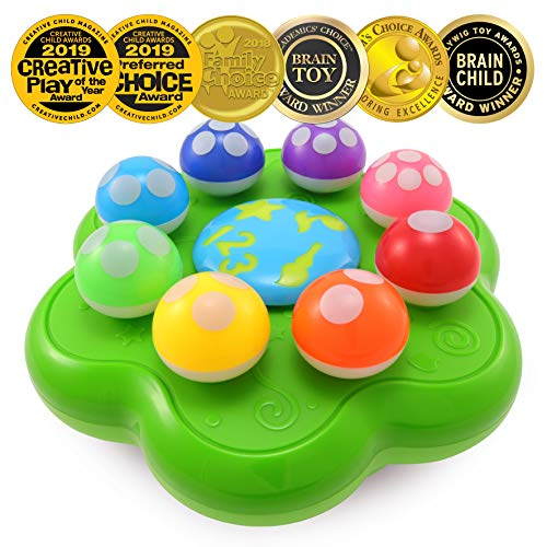 BEST LEARNING Mushroom Garden - Interactive Educational Light-Up Toddler Toys for 1 to 3 Years Old Infants & Toddlers - Colors, Numbers, Games & Music for - Hedgehog Game