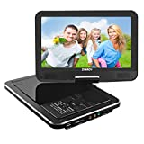 "Electronics : Portable DVD Player, SYNAGY 10.1"" Personal DVD Player for Car with Rechargeable Battery, Swivel Screen, SD Card Slot and USB Port (Black)"