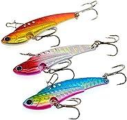 OriGlam Hard Fishing Lures Metal Lures Hard Spinner Spoon, Swimbait Vibrating Jigging Spoons Lures Fishing Jig