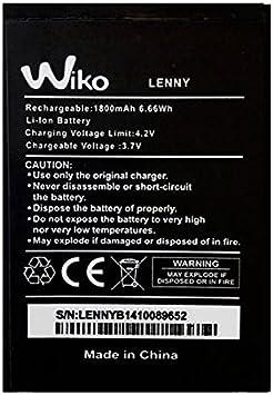 Recambio batería batería para Wiko Lenny entre otros 1800mah